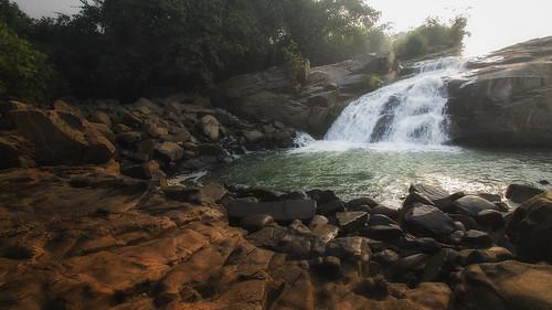 water beauty sunrise waterfall rocks bihar giridih jharkand usrifalls