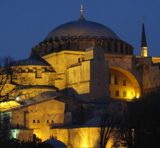 shapes and light at night, Istanbul, Turkey