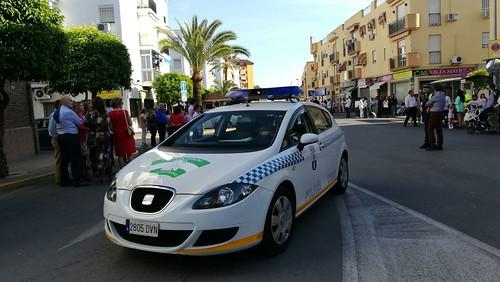 Policía Local corte de tráfico Semana Santa