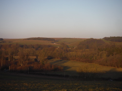 Backview to Imber Range from Cotley Hill Approach