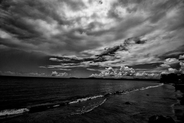Mar y cielo, b/w