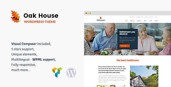 Oak House WordPress Theme free download