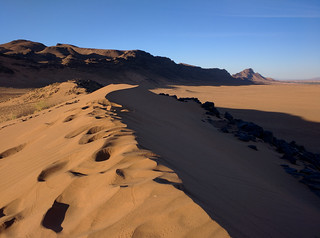 Extreme Environments - Sometimes the best photo you take is with your phone - Dunes just outside Zagora, Morocco