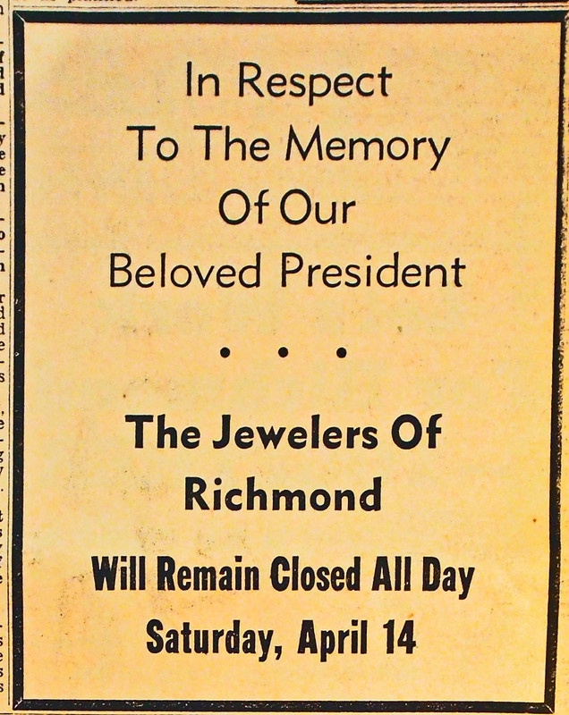 fdr mourning ad 04 1945