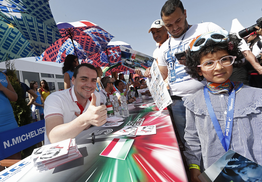 MICHELISZ Norbert (hun) Honda Civic team Castrol Honda WTC ambiance portrait AUTOGRAPH SESSION AMBIANCE during the 2017 FIA WTCC World Touring Car Race of Morocco at Marrakech, from April 7 to 9 - Photo Jean Michel Le Meur / DPPI.