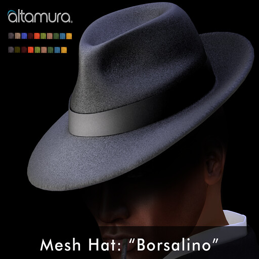 "Altagroup: "" Borsalino"" Mesh Hat - Texture Change - SecondLifeHub.com"
