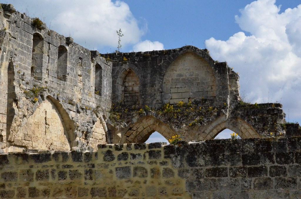 Soissons (Aisne), ruines de l'abbaye St-Jean-des-Vignes