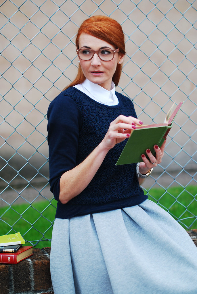 Preppy style with readers