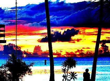 ocean sunset sky fiji clouds relax seaside meer sonnenuntergang pacific relaxing himmel vitilevu suva holidayinn promenade ufer entspannung pazifik fidschi fidji grabow saschagrabow