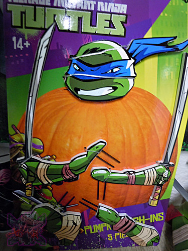 "PTI Group :: Nickelodeon  TEENAGE MUTANT NINJA TURTLES;  ""LEONARDO""  PUMPKIN PUSH-INS iii  (( 2014 ))"