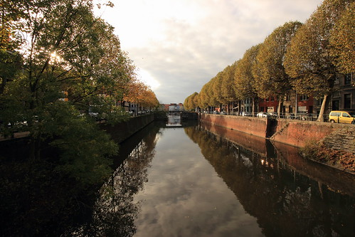 sunset reflection tree canon canal belgium wideangle kanal ghent gent günbatımı ağaç nehir yansıma belçika genişaçı eos600d rebelt3i