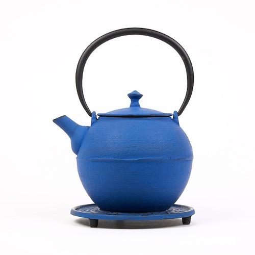 Théière Kyoto bleue en fonte