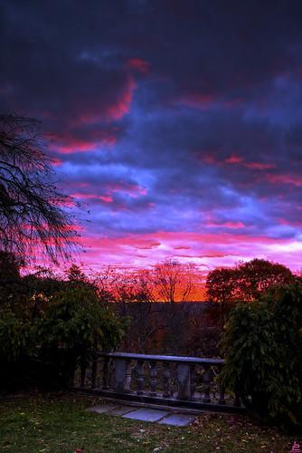 park new sunset red sky state dusk nj jersey d750 manor hdr onone ringwood skylands