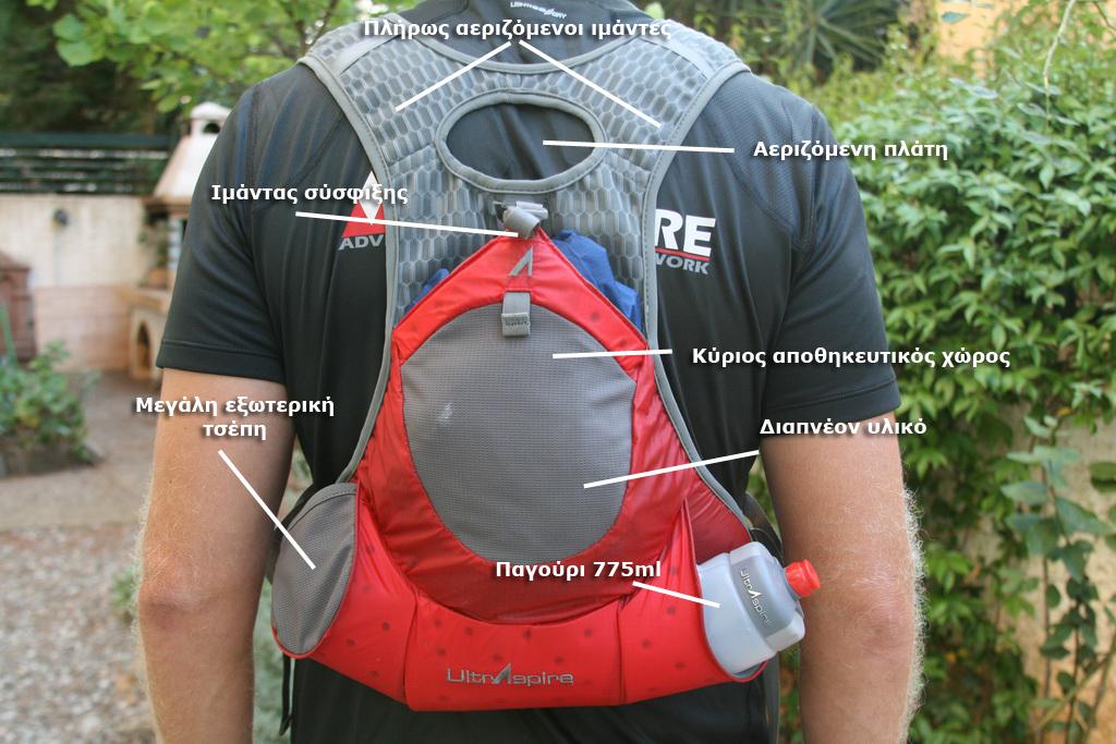 Το πίσω μέρος του Revolution Race Vest