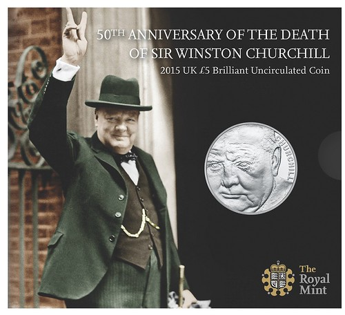 Winston Churchill £5 coin packaging