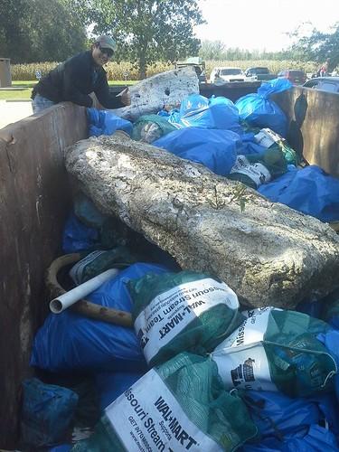 Filled Dumpster