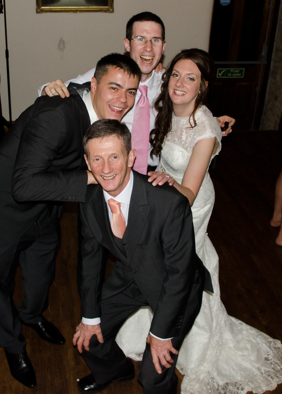 Bride and Groom pictured, photobombed