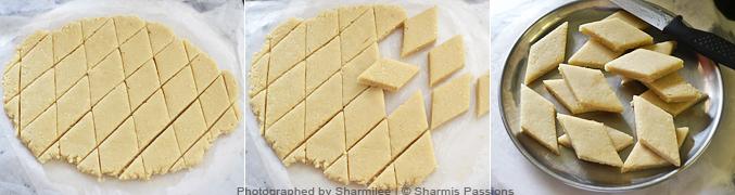 How to make kaju katli - Step3