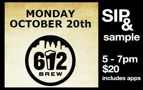 612 brew tasting