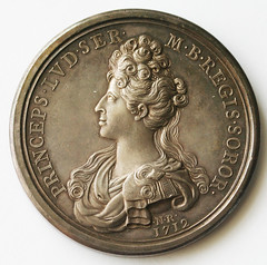 1712 death of Princess Louisa medal reverse