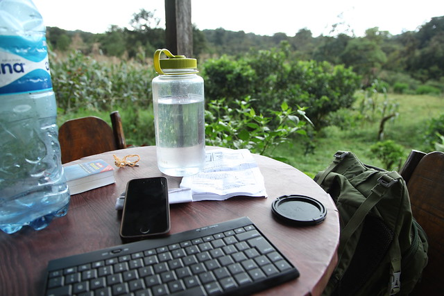 Writing station in the Miraflor cloud forest