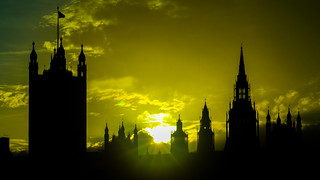 Sunset over Palace of Westminster
