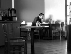 Café Life: Cell Phone, Laptop and a Latté