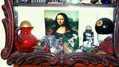 Curio cabinet with curios