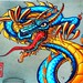 Chinatown #sf #sanfrancisco #graffiti #dragon #chinatown #streetart