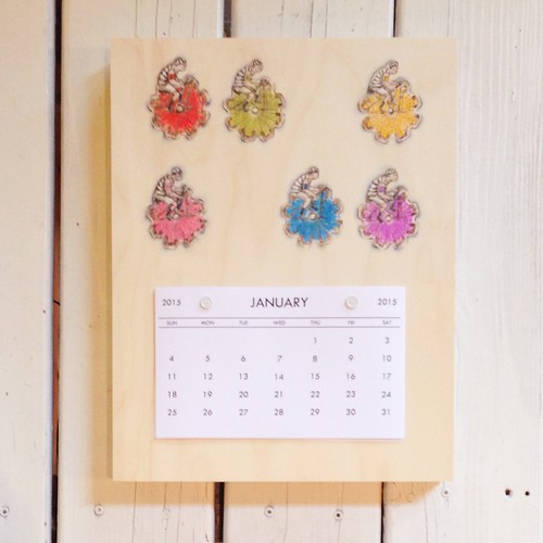 Sajour Embroidery cards-2015 Calendar