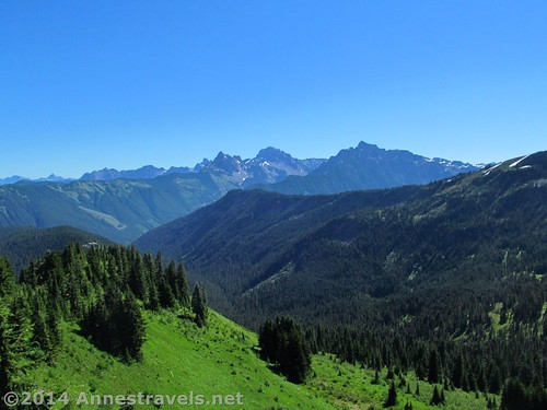 The Canadian Cascades from the Canyon Ridge Trail, Mt. Baker-Snoqualmie National Forest, Washington