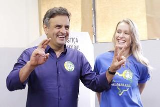 Aécio Neves - Votação - Belo Horizonte - 26/10/2014