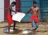 Construction workers near  Nallur Kovil, Jaffna