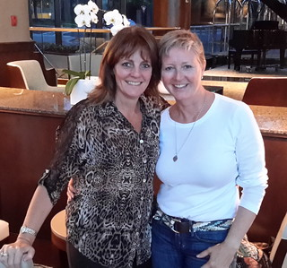 Jackie & I stealing two hours together at her hotel outside Boston