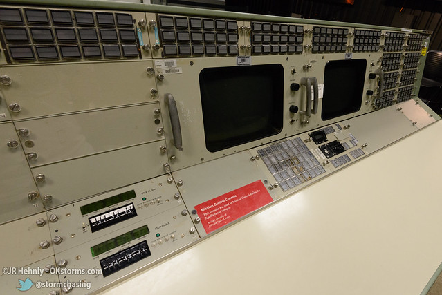 Sun, 10/26/2014 - 15:19 - These are panels from Johnson Space Center Mission Control in Houston that were used in the Apollo missions. - Stafford Air and Space Museum - October 26, 2014 3:19:27 PM - Weatherford, Oklahoma (35.5447,-98.6700)