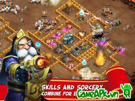 Castle Clash v1.2.6 hack full cho Android