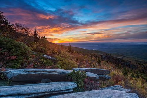 mountains fall clouds sunrise northcarolina appalachian blueridgeparkway blueridge grandfathermountain brp roughridge ourstate visitnc