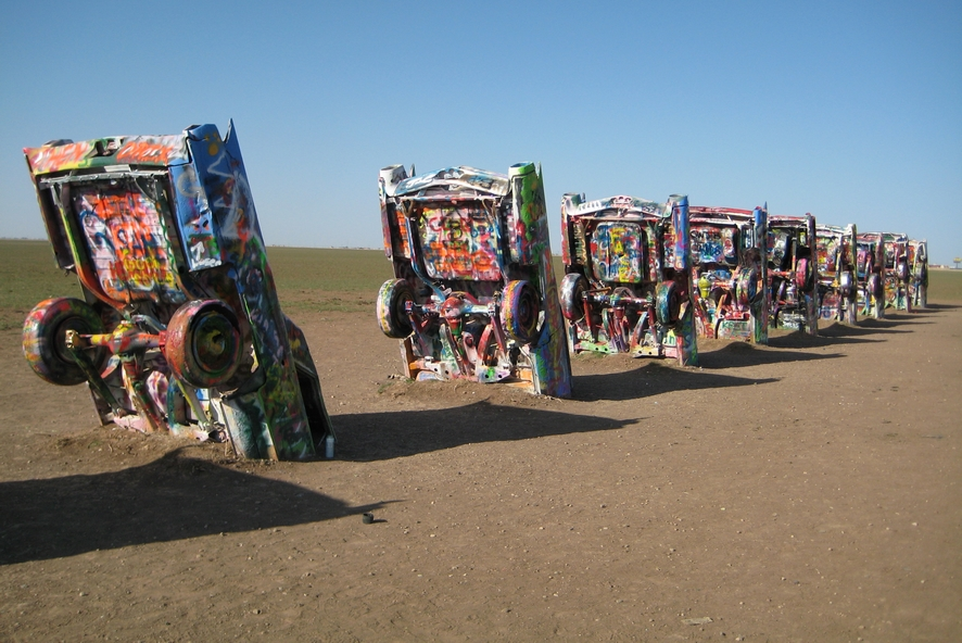 Texas - Cadillac Ranch à Amarillo