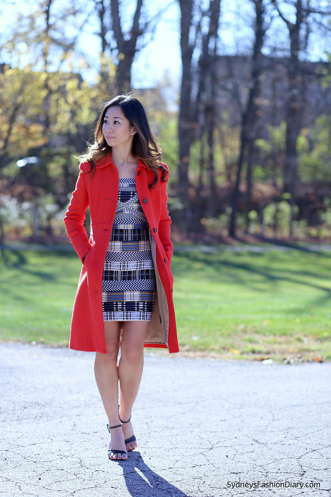 J Crew Lady day coat in red