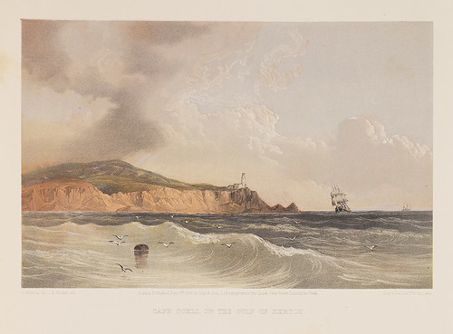 mountains lighthouses cliffs capes bays sailingships squareriggers kerchbay