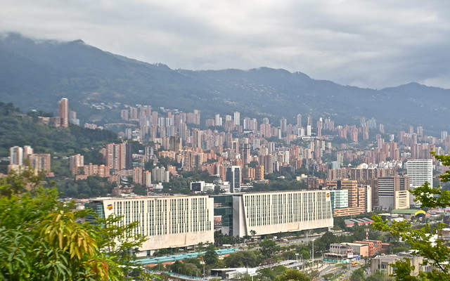 views from Cerro Nutibara, medellin colombia