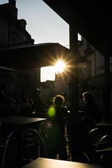Sunset on the terrace