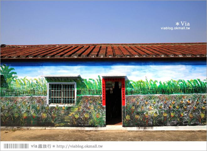 【關廟彩繪村】新光里彩繪村~在北寮老街裡散步‧遇見全台最藝術風味的彩繪村13