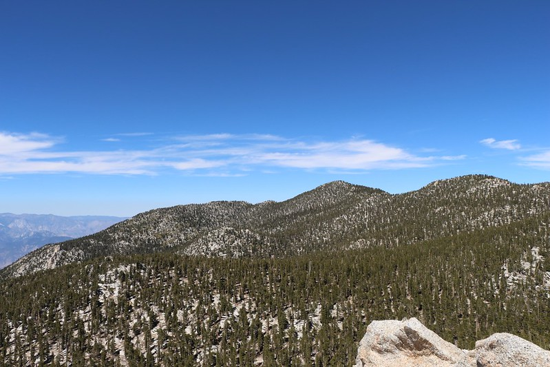 Folly, San Jacinto, and Jean Peaks from Marion Mountain