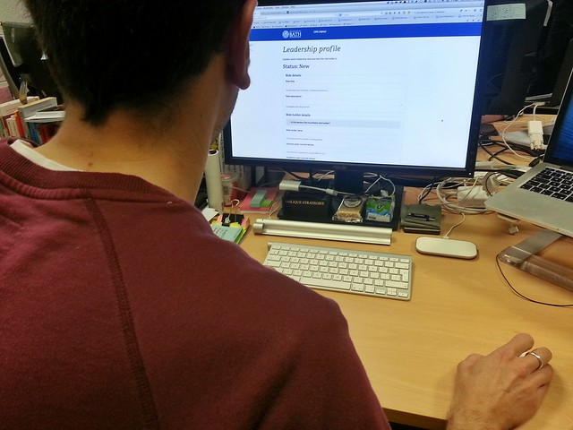 Digital team member doing a demo of the CMS