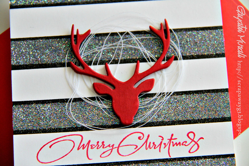 Merry christmas reindeer card clsoeup1