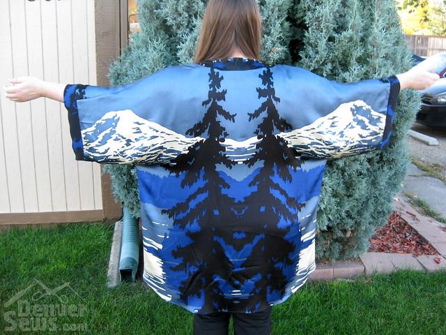 Anna Sui Silk Kimono - Back View