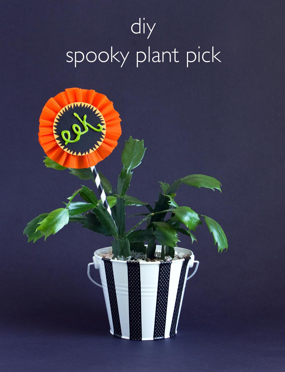 DIY Spooky Plant Pick