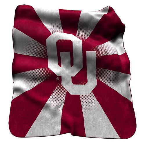 Oklahoma Sooners NCAA Raschel Blanket