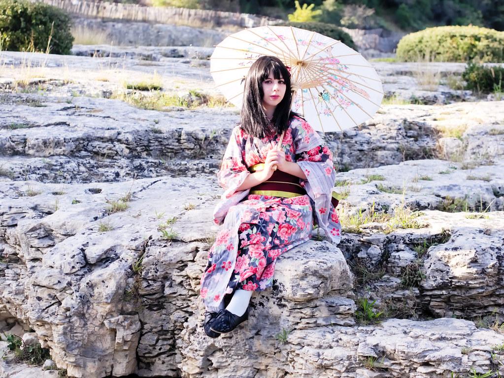 related image - Shooting Kimono - Leia-Chan - Pont du Gard -2014-09-28- P1940516